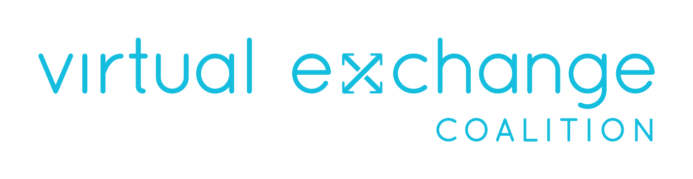 Virtual Exchange Coalition Logo Blue On White